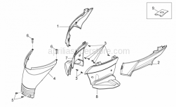 Frame - Central Body Iv - Aprilia - Right lateral closing, ABOLISHED BY APRILIA, NO LONGER AVAILABLE