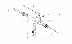 Frame - Connecting Rod - Aprilia - Hex screw M10x245