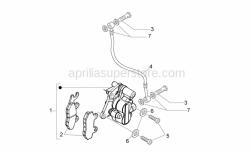 Frame - Front Caliper I - Aprilia - Brake fluid line