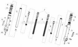 Frame - Front Fork - Aprilia - RH sleeve