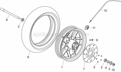Frame - Front Wheel - Aprilia - Nut M12