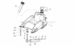 Frame - Fuel Tank - Aprilia - Tank cover gasket