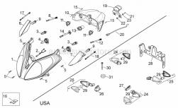 Frame - Lights - Aprilia - Rear RH turn indicator
