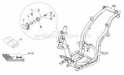 Frame - Lock Hardware Kit - Aprilia - Block