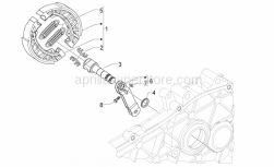 Frame - Rear Brake - Aprilia - Brake shoes return spring