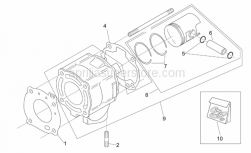 Engine - Cylinder With Piston - Aprilia - Cylinder base gasket