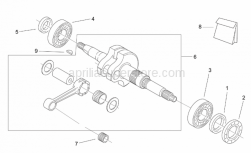 Engine - Drive Shaft - Aprilia - Bearing d25x52x13