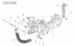 Engine - Engine (Ditech) - Aprilia - Pin M12