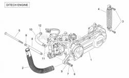 Engine - Engine (Ditech) - Aprilia - Pump-cylinder hose