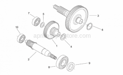 Engine - Reduction - Aprilia - Bearing d22x50x14
