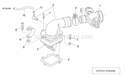 Engine - Throttle Body (Ditech) - Aprilia - Reed valve assy