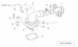 Engine - Throttle Body (Ditech) - Aprilia - OIL PIPE