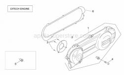 Engine - Transmission Cover (Ditech) - Aprilia - Variator cover gasket