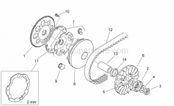 Engine - Variator - Aprilia - Pulley assy., driving