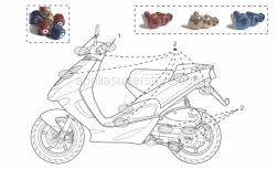 Accessories - Acc. - Cyclistic Components - Aprilia - Pair anti.v weights,gold Ergal