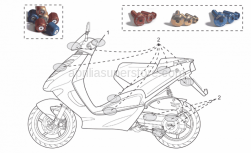 Accessories - Acc. - Cyclistic Components - Aprilia - Bodywork+cas.screws,blue Ergal