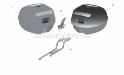Genuine Aprilia Accessories - Acc. - Top/Cases, Side Cases - Aprilia - Top box, embossed New-C 32L