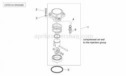 Engine - Air Compressor (Ditech) - Aprilia - O-ring