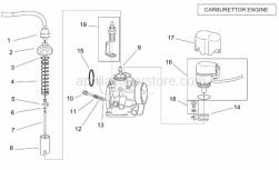Engine - Carburettor I - Aprilia - Gas valve cover