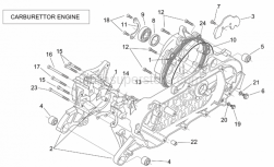 Engine - Crank-Case (Carburettor) - Aprilia - Screw w/ flange
