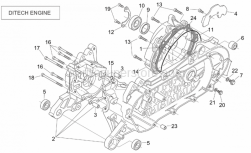 Engine - Crank-Case (Ditech) - Aprilia - Bearing fixing plate