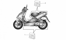 Frame - Central And Rear Body Decal - Aprilia - Rear body decal set