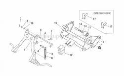 Frame - Central Stand - Connecting Rod - Aprilia - Engine connecting element
