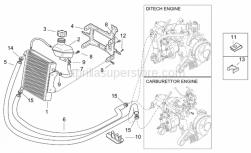 Frame - Cooling System - Aprilia - Hose clamp 17-25