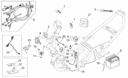 Frame - Electrical System - Aprilia - Heater wiring