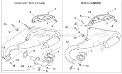 Frame - Exhaust Pipe - Aprilia - Silent block, exhaust pipe