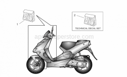 Frame - Front Body And Technical Decal - Aprilia - Technical decal set