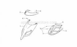 Frame - Front Body II - Aprilia - Front fairing, nik grey