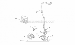 Frame - Front Brake Caliper - Aprilia - Front brake caliper, gold D32