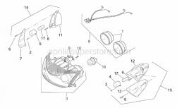 Frame - Front Lights - Aprilia - Headlight wiring w/harness