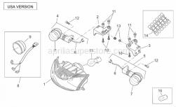 Frame - Front Lights Usa - Aprilia - Hex socket screw M6x16