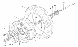 Frame - Front Wheel - Aprilia - Odometer gear