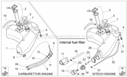 Frame - Fuel Tank - Aprilia - White hose clip D17,5x8