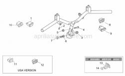 Frame - Handlebar - Buttons - Aprilia - Plastic rivet