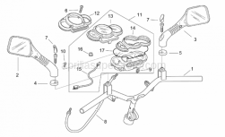 Frame - Handlebar - Dashboard - Aprilia - Odometer cable