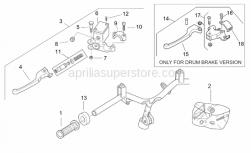 Frame - Lh Controls - Aprilia - Handgrip pair, grey