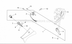 Frame - Lock Hardware Kit - Aprilia - Low self-locking nut