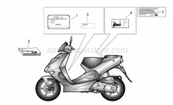 Frame - Plate Set And Handbook - Aprilia - Tamperproof dataplate