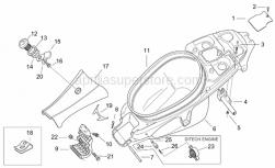 Frame - Rear Body II - Aprilia - Screw w/ flange