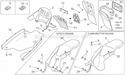 Frame - Rear Body III - Aprilia - Plate light support, black
