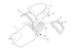 Frame - Saddle - Handle - Aprilia - Rubber spacer