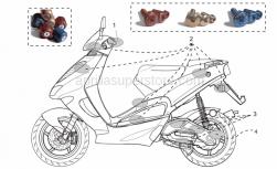 Genuine Aprilia Accessories - Acc. - Cyclistic Components - Aprilia - Pair anti.v weights, red Ergal