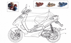 Accessories - Acc. - Cyclistic Components - Aprilia - Pair anti.v weights,blue Ergal