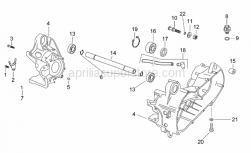Engine - Central Crank-Case Set - Aprilia - Crankcase assy