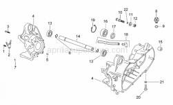 Engine - Central Crank-Case Set - Aprilia - Crankcase pin D12x16