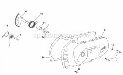 Engine - Covers - Kick Starter - Aprilia - Pin cover D10x14